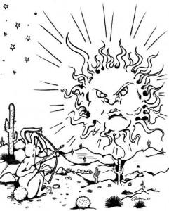 un lapin tire sur le soleil - légende Hopi