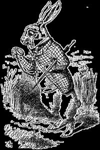 gravure du Le Lapin d'Alice au Pays des Merveilles de 1865