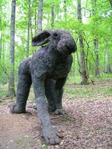 Sculpture Lapin des bois - auteur inconnu