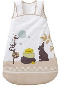 Gigoteuse lapin spécial été bébé brodée thème pétales - Vert baudet