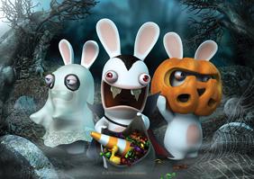 Poster d'Halloween des Lapins Crétins