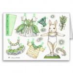 Carte de poupée de papier du muguet d'anniversaire