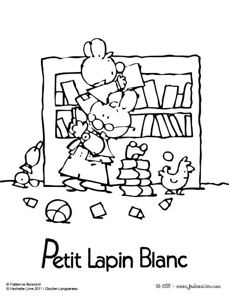 Coloriages le monde des lapins tout sur les lapins esp ce litt rature jeux c l bres - Coloriage petit lapin ...