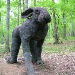 Statue de lapin géant