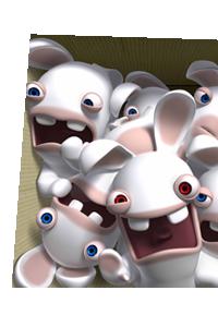 serie quatre lapins cretins