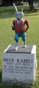 Statue de Br'er Rabbit, à Eatonton (Georgia - Etats-Unis)