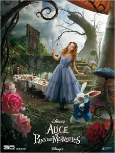 Affiche d'Alice au Pays des Merveilles de Tim Burton © Walt Disney Studios Motion Pictures France