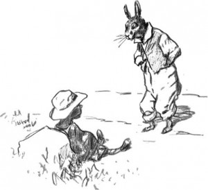 Br'er Rabbit and the Tar-Baby, drawing by E.W. Kemble from The Tar-Baby, by Joel Chandler Harris, 1904