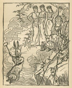 Br'er Rabbit's dream, from Uncle Remus, His Songs and His Sayings: The Folk-Lore of the Old Plantation, 1881.