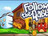 Follow the rabbit - Suivre le lapin - un jeu de Armor Games Inc