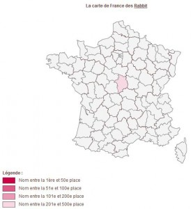Nom de famille Rabbit en France - www.journaldesfemmes.com
