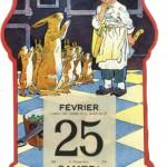 Chromo ancien, calendrier cuisine Marmitton