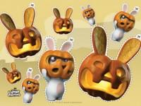 Halloween masque en citrouille - Lapins Crétins