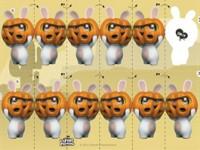Halloween guirlande - Lapins Crétins