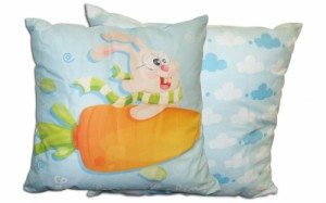 Coussin lapin personnalisable - http://www.idzif.com