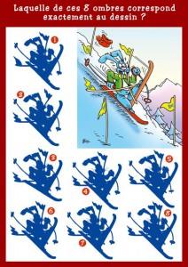 La chute à ski - www.jedessine.com