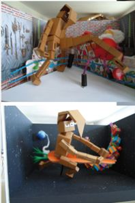 Scènes avec le Lapin recyclé de Charles - www.madein-marrakech.com