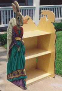 Rabbit bookcase de joannewestdesign.com