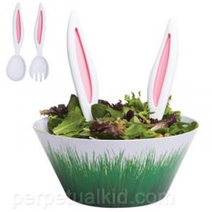 Couverts de salade oreilles de lapin - www.perpetualkid.com