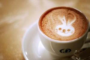 Lapin dans une tasse de café - http://pastel-goodness.tumblr.com