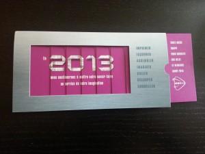 Carte de voeux ouverte 2013 d'Icône Ouest