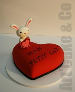 Gâteau Mon Petit Lapin St valentin - Art'Cake & Co