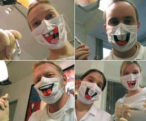 masques sourires lapins