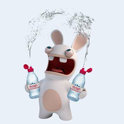 Evian le monde des lapins tout sur les lapins esp ce litt rature jeux c l bres - Lapin cretin image ...