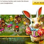 fantasy garden rabbit